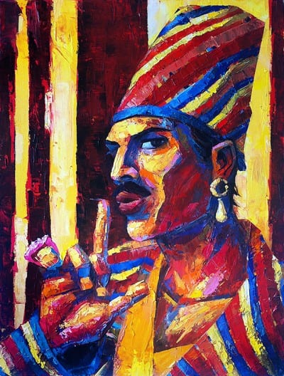 painting of Freddie Mercury as Queen Latifah